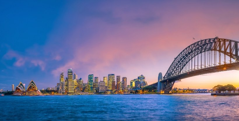 AIA - Australian Immigration Agency - Sydney at Sunset